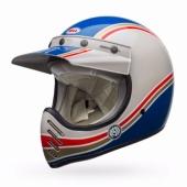 Casque BELL Moto-3 RSD Malibu BLEU/BLANC casque