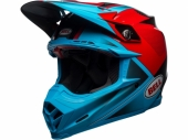 Casque BELL Moto-9 Flex Gloss/Matte Cyan/Rouge casques