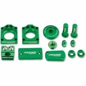 KIT COMPLET ANODISE VERT  MOOSE RACING KAWASAKI 250 KX-F 2011-2018 kit complet anodisé