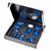 KIT COMPLET ANODISE BLEU KITE HONDA 250 CR-F 2004-2009 kit complet anodisé