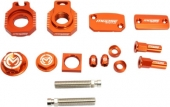 KIT COMPLET ANODISE ORANGE MOOSE RACING KTM 125/150  SX  2009-2012 kit complet anodisé