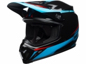 Casque CROSS  BELL MX-9 MIPS Gloss Torch NOIR/CYAN/ROUGE casques