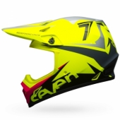 Casque BELL MX-9 MIPS Seven Ignite JAUNE FLUO casques