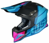 Casque CROSS JUST1 J12 Unit BLEU/ROSE casques