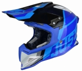 Casque CROSS JUST1 J12 Unit BLANC/BLEU casques