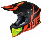 Casque CROSS JUST1 J12 Unit ROUGE/LIME casques