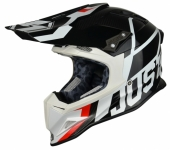 Casque CROSS  JUST1 J12 Unit NOIR/BLANC casques