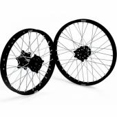 JEUX DE ROUES CROSS PROSTUF MOYEUX NOIR/CERCLE NOIR KAWASAKI 125/250 KX 2002-2008 roues completes