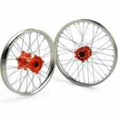 JEUX DE ROUES CROSS PROSTUF MOYEUX ORANGE/CERCLE ALU KTM SX/SX-F 2003-2012 roues completes