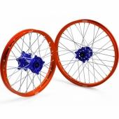 JEUX DE ROUES CROSS PROSTUF MOYEUX BLEU/CERCLE ORANGE KTM SX/SX-F 2015-2018 roues completes