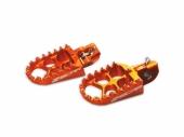 Repose-pieds SCAR Evo ORANGE HUSQVARNA 250 FC 2014-2019 reposes pieds
