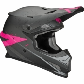 CASQUE CROSS THOR SECTOR HYPE CHARCOAL/ROSE casques