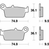 Plaquettes de frein ARRIERE MOTO MASTER YAMAHA 250 YZ-F 2001-2002 plaquettes de frein