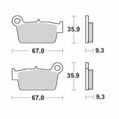 Plaquettes de frein ARRIERE MOTO MASTER YAMAHA 250 YZ-F 2003-2004 plaquettes de frein