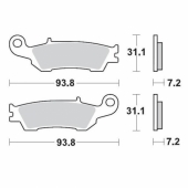 Plaquettes de frein AVANT MOTO MASTER YAMAHA 250 YZ-F 2007 plaquettes de frein
