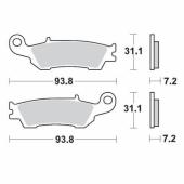 Plaquettes de frein AVANT MOTO MASTER YAMAHA 450 YZ-F 2010-2013 plaquettes de frein