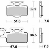Plaquettes de frein AVANT MOTO MASTER KAWASAKI 65 KX 2000-2019 plaquettes de frein