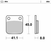 Plaquettes de frein ARRIERE MOTO MASTER KAWASAKI 65 KX 2000-2019 plaquettes de frein
