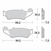 Plaquettes de frein AVANT MOTO MASTER KAWASAKI 250 KX-F 2004-2005 plaquettes de frein