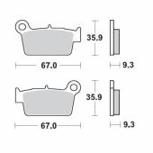 Plaquettes de frein ARRIERE MOTO MASTER KAWASAKI 450 KX-F 2006-2008 plaquettes de frein