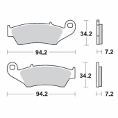 Plaquettes de frein AVANT MOTO MASTER KAWASAKI 450 KX-F 2009-2018 plaquettes de frein
