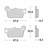 Plaquettes de frein ARRIERE MOTO MASTER SUZUKI 450 RM-Z 2005-2007 plaquettes de frein