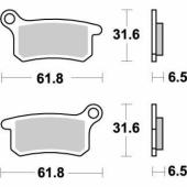 Plaquettes de frein ARRIERE MOTO MASTER HUSQVARNA 65 TC 2017-2018 plaquettes de frein