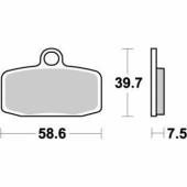 Plaquettes de frein AVANT MOTO MASTER HUSQVARNA 85 TC 2014-2018 plaquettes de frein