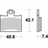 Plaquettes de frein ARRIERE MOTO MASTER HUSQVARNA 85 TC 2014-2018 plaquettes de frein