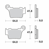 Plaquettes de frein ARRIERE MOTO MASTER HUSQVARNA 125 TC 2014-2018 plaquettes de frein