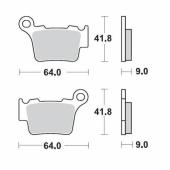 Plaquettes de frein ARRIERE MOTO MASTER HUSQVARNA 250 TC 2014-2018 plaquettes de frein