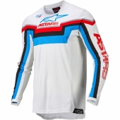 Maillot Cross ALPINESTARS Racer ATOMIC ROUGE/NAVY/BLEU 2019 maillots pantalons