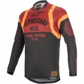 Maillot Cross ALPINESTARS Racer FLAGSHIP GRIS/ANTHRACITE/ORANGE FLUO 2019 maillots pantalons