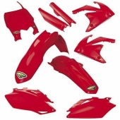 KIT PLASTIQUE CYCRA 6 ELEMENTS ROUGE HONDA 250 CR-F 2018-2019 kit plastique cycra powerflow
