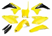 KIT PLASTIQUE CYCRA 6 ELEMENTS JAUNE SUZUKI 450 RM-Z 2008-2017 kit plastique cycra powerflow