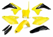 KIT PLASTIQUE CYCRA 6 ELEMENTS JAUNE/NOIR SUZUKI 450 RM-Z 2010-2017 kit plastique cycra powerflow