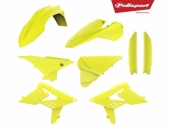 Kit plastique POLISPORT JAUNE/FLUO BETA 4 TEMPS RR 2013-2017 plastique polisport