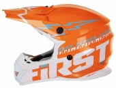 CASQUE FIRST RACING K2 EVO MARINE/JAUNE FLUO/BLANC casques