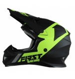 CASQUE FIRST RACING K2 EVO NOIR/GRIS/JAUNE FLUO  casques