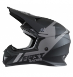 CASQUE FIRST RACING K2 EVO GRIS METAL/GRIS/NOIR casques