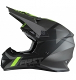 CASQUE FIRST RACING K2 EVO GRIS METAL/FLUO/NOIR casques