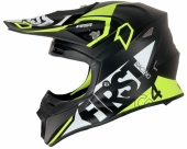 CASQUE FIRST RACING G4 FIBRE V2 GRIS / LIME FLUO casques