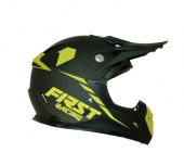 CASQUE FIRST RACING KID KOBALT  2 NOIR / JAUNE FLUO casque kids