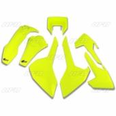 Kit plastiques UFO JAUNE FLUO Husqvarna 250 FE 2017-2018 kit plastiques ufo