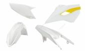Kit plastique RACETECH couleur origine (2015) BLANC/JAUNE HUSQVARNA 250 TE 2015-2016 kit plastiques racetech