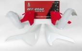 Kit plastique RACETECH vintage ROUGE/BLANC HUSQVARNA 350 FE 2017-2018