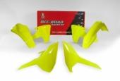 Kit plastique RACETECH JAUNE FLUO HUSQVARNA 250 TE 2017-2018 kit plastiques racetech