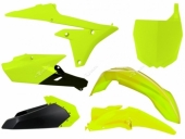Kit plastique RACETECH JAUNE FLUO/NOIR YAMAHA 250 YZ-F 2014-2018 kit plastiques racetech