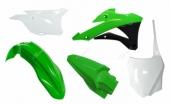 Kit plastique RACETECH couleur origine vert/blanc KAWASAKI 85 KX 2014-2019 kit plastiques racetech
