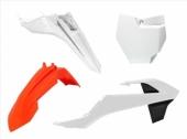 Kit plastique RACETECH couleur origine (2017) orange/blanc/noir KTM 65 SX 2016-2018 kit plastiques racetech